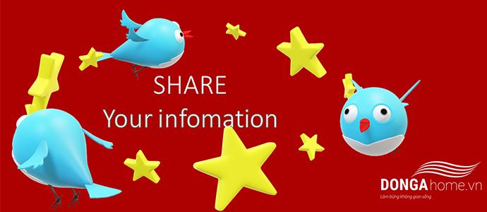 Chia sẻ thông tin cá nhân tại nội thất Đông Á